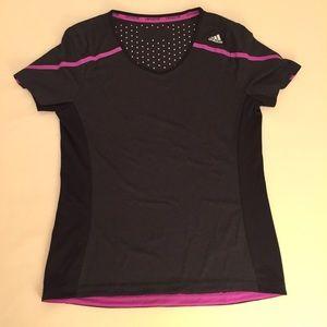 Adidas black / charcoal climachill t-shirt.